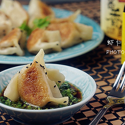 虾仁花菇煎饺