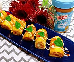 #四季宝蓝小罐#花生酱吐司卷的做法