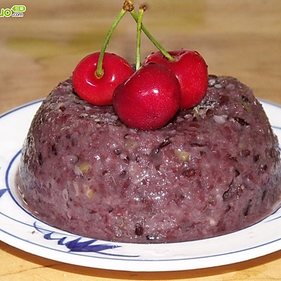 紫米绿豆糯米糕