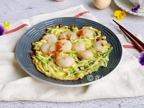 西葫芦鲜虾鸡蛋饼