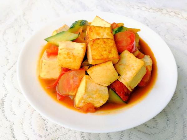 彩蔬焖豆腐