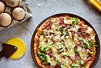 藜麦培根薄底披萨的做法