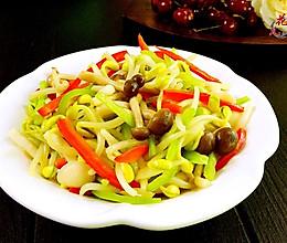 蟹味菇炒芽菜#我要上首页清爽家常菜#的做法