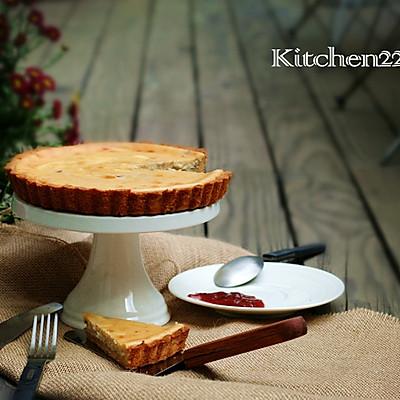 大黄草莓芝士派——给自己烤个派