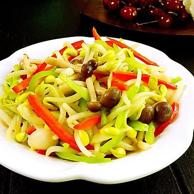蟹味菇炒芽菜