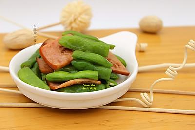火腿炒四季豆