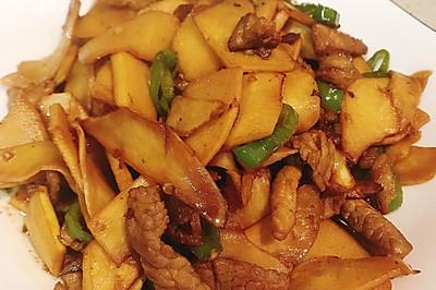 鲜香美味无敌下饭的春日小炒——肉丝茭白炒春笋
