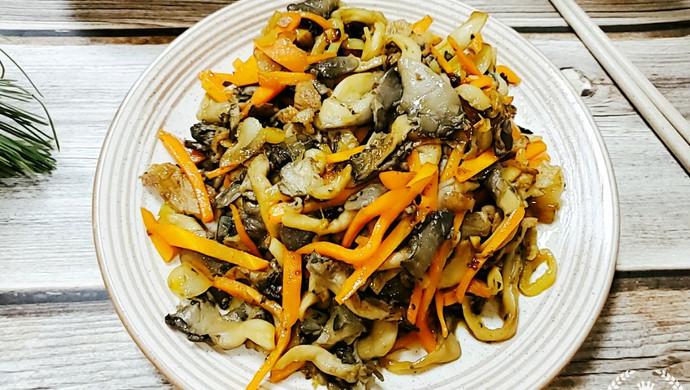 干香胡萝卜炒平菇