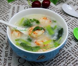 虾仁菠菜粥的做法