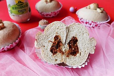 多谷物蛋黄酱肉松面包