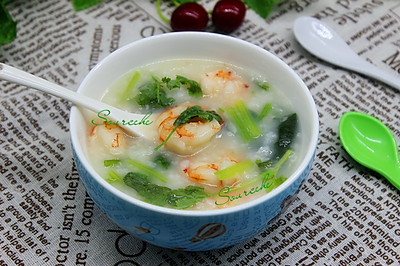 虾仁菠菜粥