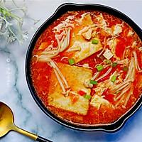 番茄金针菇豆腐汤的做法图解12