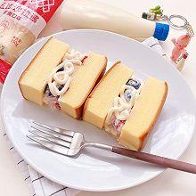水果沙拉蛋糕三明治