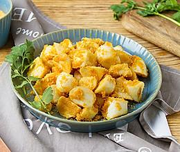 咸蛋黄炒茭白的做法