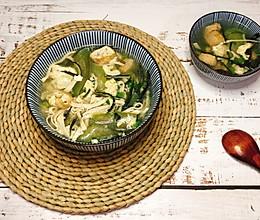 #营养小食光#丝瓜豆皮海带汤的做法