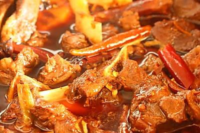 香辣羊肉火锅