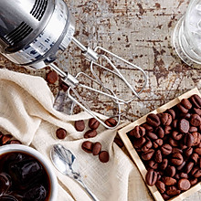 咖啡豆饼干 + 咖啡