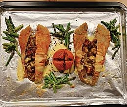 原创烤制琵琶虾的做法