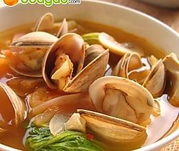 韩式泡菜蛤蜊汤的做法