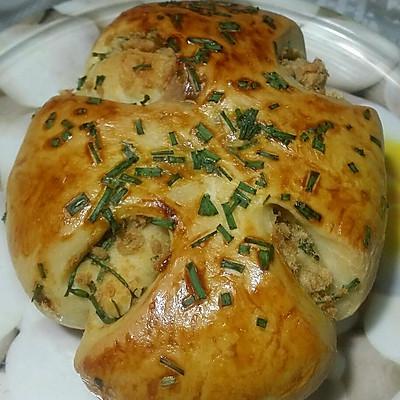 葱香肉松面包