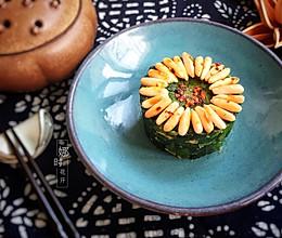 松仁菠菜的做法