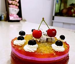 彩虹缤纷水晶蛋糕~~清凉又美味的做法