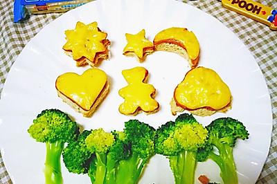 卡通小三明治#百吉福食尚达人#