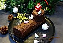 #令人羡慕的圣诞大餐#圣诞树根蛋糕卷的做法