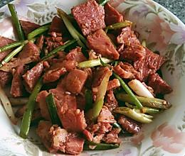 小葱拌牛肉的做法