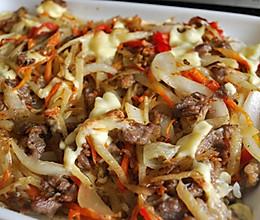 红酒牛肉蔬菜焗饭的做法