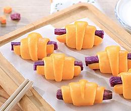 紫薯牛角包的做法