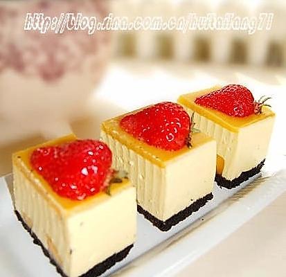 芒果冻芝士蛋糕的做法