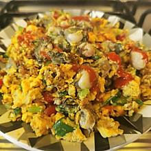 #美食视频挑战赛# 海蛎煎蛋~全是蛋白的减肥餐