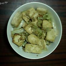 孜然白菜豆腐