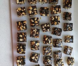 黑芝麻花生糖的做法