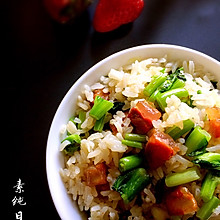 青菜腊肠炒蛋#美的女王节#