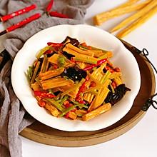 #花10分钟,做一道菜!#红油腐竹
