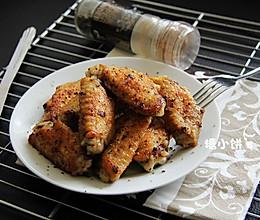 平底锅简单做【黑椒盐煎翅】的做法