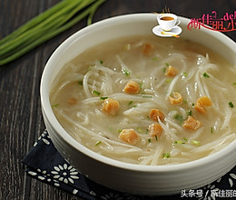 瑶柱萝卜丝汤的做法