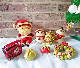 可爱圣诞系列馒头的做法