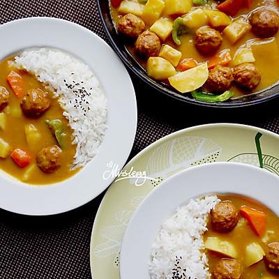 瑞典肉丸椰香咖喱饭