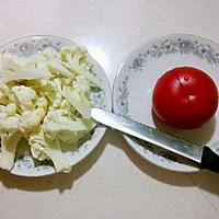 西红柿菜花鸡蛋面--宝宝辅食的做法图解2