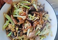 花菜平菇小炒肉的做法