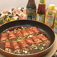 #太太乐鲜鸡汁芝麻香油#超级下饭又好吃的~金针菇培根卷