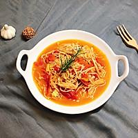 金针菇炒西红柿的做法图解5