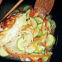 西葫芦胡萝卜面条