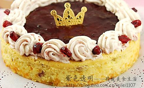 隐形饼底的蔓越莓李子酱重乳酪蛋糕的做法