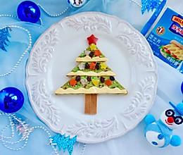 牛油果圣诞树吐司#百吉福冬季芝恋#的做法