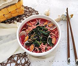花蛤苋菜汤面的做法