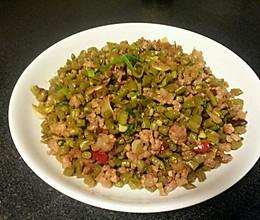 泡椒酸豇豆炒肉末的做法
